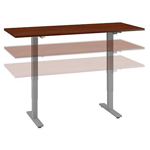 Bush Business Furniture Move 40 Series Height Adjustable Desk, 72W x 30D, Hansen Cherry/Cool Gray Metallic