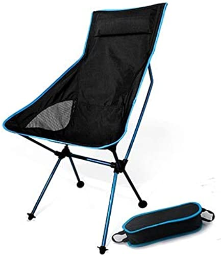 WFHGFDF Chaise Pliante Portable Moon Chair Lightweight Fishing Camping BBQ Chairs Folding Extended Hiking Seat Jardin Ultralight Office Meubles d'accueil Fédération SF73600SB SF73600SB