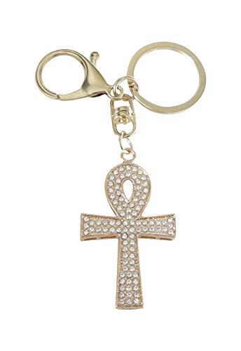 Porte-clés, Bijou de Sac Croix ansée Ankh Style égyptien.