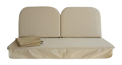 Pièce de rechange complète avec toit pour balancelle 3 places (150 cm) Tissu anti-taches
