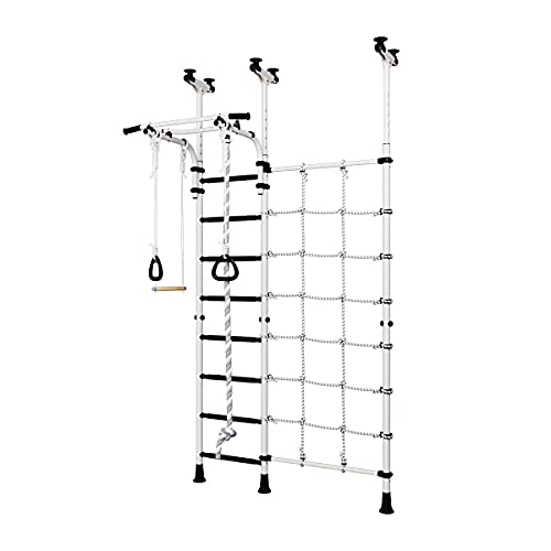 Wandstangen Schwedenleiter Mercury 3, Kinderspielplatz, Klettergerüst, Klimmzugstange, silber-schwarz
