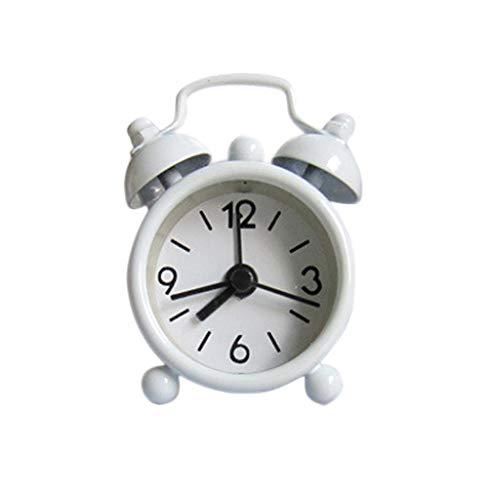 Tomatoa Mini Doppelglockenwecker, Wecker Analog Twin Bell Metall Wecker Klassik Wecker Clock Wecker Analog Quarzwecker mit lautem Alarm,kein Ticken, geräuschlos
