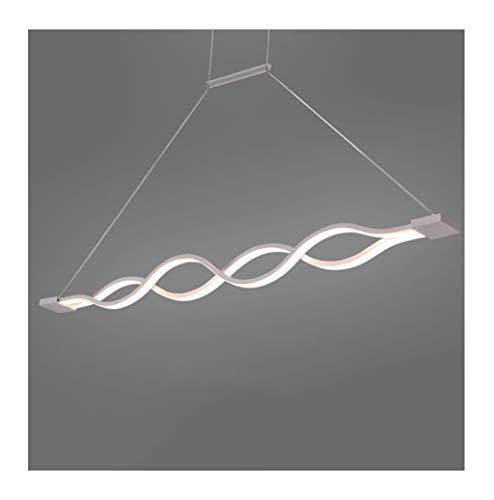 ZXS668 LED Luz de Techo/Araña de Luces Lámpara Colgante Minimalista Moderna Ondulada LED Dining Table Bar Lámpara de Estudio Nivel de energía 【A ++】 (Size : 103 * 6cm)
