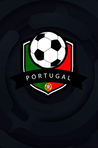 Portugal Soccer Ball   Portuguese Flag Football Tee College Ruled Notebook 6x9 inch