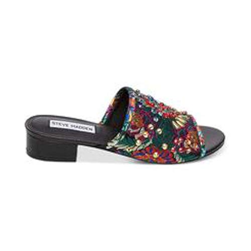 Steve Madden Womens Briele-S Fabric Open Toe Casual, Black Multicolor, Size 5.5