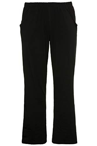 Ulla Popken Damen Boot-Cut Hose, 64083110, Schwarz (schwarz 10), 54 (Herstellergröße: 54+)