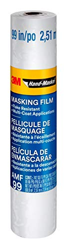 Hand-Masker AMF99 Advanced Film Masking fim, Surface protecter, Dust barrier, 99-Inch, Clear