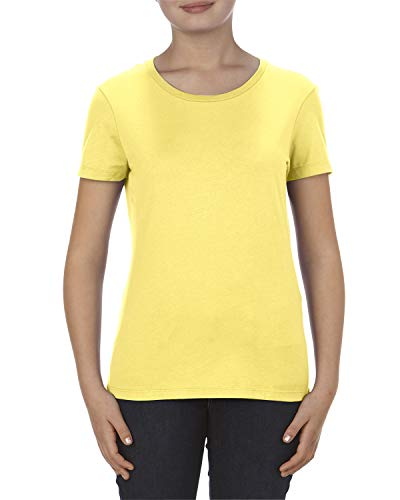 Marky G Apparel Women's 4.3 oz. Ringspun Cotton T-Shirt, Banana, X-Large
