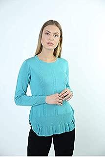 Sweater Bisiklet Yaka Kadın Kışlık Kazak 3674