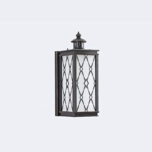 YBright American Industrial Luz de pared Soporte cuadrado retro al aire libre impermeable impermeable pared linterna E27 luz con vidrio congelado de la pared de la sombra de la decoración del pórtico