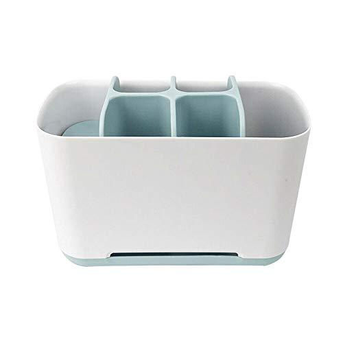 XCQ Elektrische Zahnbürste Halter Zahnpasta Caddy Stand Badezimmer Organizer Fall Rack Aufbewahrungsbox Desktop Organizer Durable 0328 (Color : Blue)