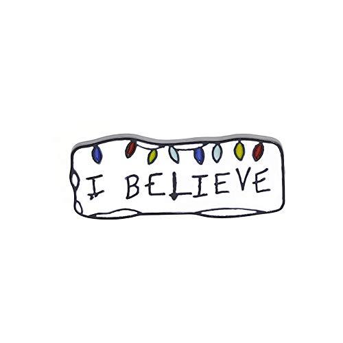 MKOIJN Spilla Lettere Creative Negozio di tè al Latte Cartelloni Pubblicitari Slogan Abbigliamento Personalizzato Spille Abiti per La Festa del Regalo di Compleanno, Camicia Spilla da Donna