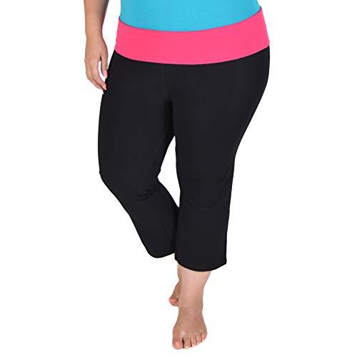 Stretch is Comfort Women's Plus Size Capri Yoga Pants Hot Pink XXXL