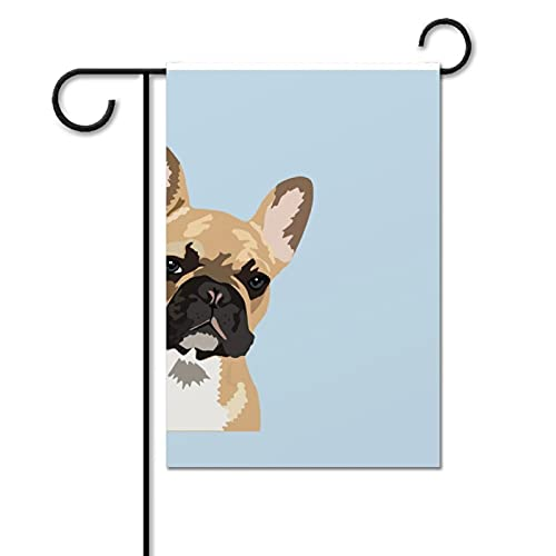 French Bulldog Cute Frenchie Garden Flag Double Sided Outdoor Decoration Flag Welcome Party Yard Flag Summer Holiday Decor Flag 12.2 x 18.1 Inch