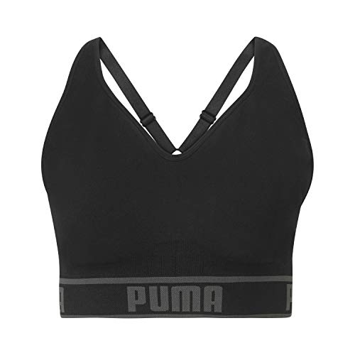 PUMA Women#039s Solstice Seamless Sports Bra Black