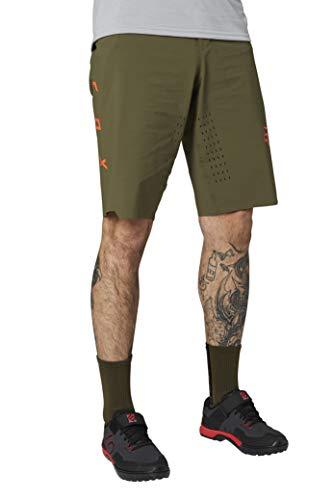Fox Racing Men's Standard Flexair LITE Mountain Biking Short, Olive Green, 38