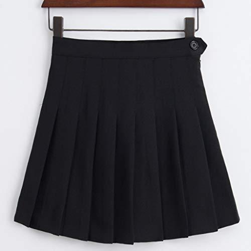 FZJDX Señoras Dulce Cintura Alta Falda Plisada Chicas Harajuku Mini Falda señoras Verano Delgado Falda Corta Falda Escolar Uniforme Falda (Color : E, Size : Large)