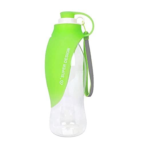 woyada Botella de agua para mascotas al aire libre lavable conveniente simple prueba de fugas traje alimentador de agua para mascotas viaje al aire libre