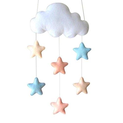 Estrella de la nube Adornos,Nubes Estrella Colgante,Ornamento colgante de bricolaje, para la fiesta de bienvenida al bebé decoración de la habitación de los niños accesorios de fotografía