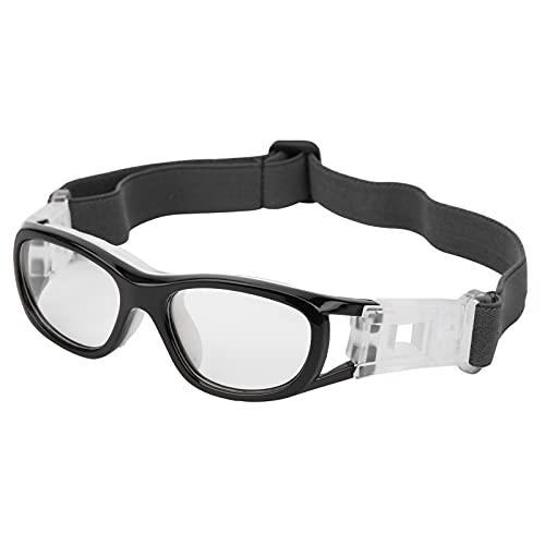 T-Day Kinder Sportbrillen,Sportbrillen,Kinder Sportbrillen Teenager Einstellbare Fußball Radfahren Basketball Brille Zubehör Access(Schwarz)