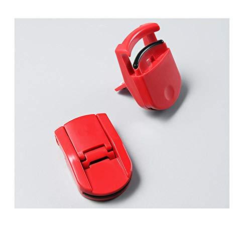 Tragbarer Mini-Wimpernzange, langes Locken, partieller Wimpernzange, Ersatzpolster-Rot