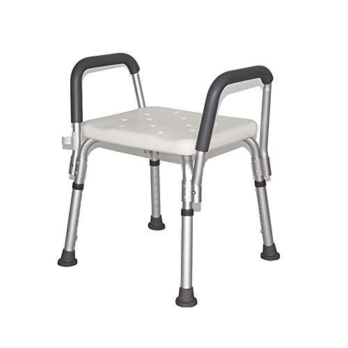 Badkamerbank – aluminiumlegering met armleuningen verstelbare badkamerstoel, antislip, geschikt voor ouderen, zwangere vrouwen en kinderen