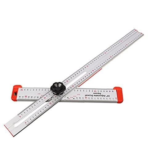nJiaMe T Plaza de Regla de Alta precisión de aleación de Aluminio de Tratar Madera de medición para Carpenter Hardware Herramientas
