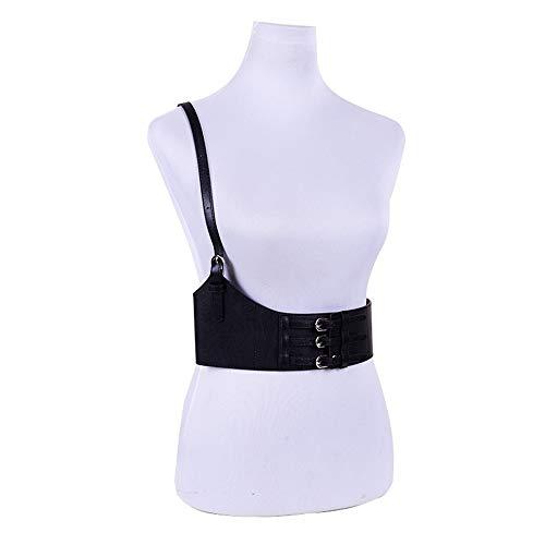XY-man's belt Confortevole Cintura Donna Regolabile con Fibbia in Vita sul Petto Cintura con Cinturino alla Caviglia Fancy Harness Cinturino Cinturino Costumi da Discoteca Regolabile (Colore : Nero)