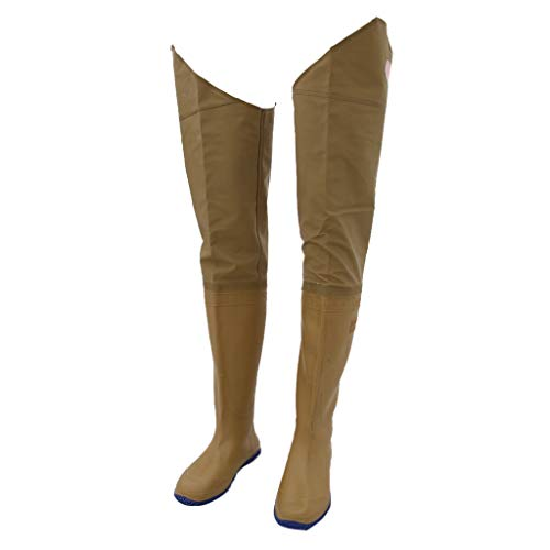 B Blesiya Pantalons de Pêche Étanche Cuissardes de Pêche Pants Unisexe Adulte - Vert - Jaune, 44