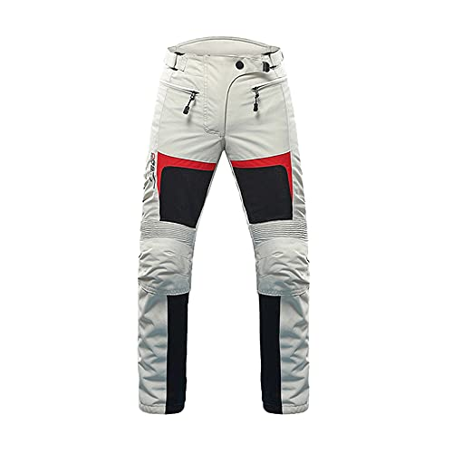 DUHAN Motorcycle Jacket Women Moto Jacket Suit Breathable Pants Motorcycle Clothing Summer Motorbiker And Racing Clothes (Grey pants, L)