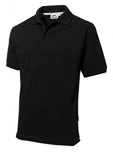 Slazenger Polo Hemd Poloshirt aus 100 % Baumwolle für Freizeit, Tennis oder Golf in 23 Farben und den Grössen S, M, L, XL und XXL Schwarz,L