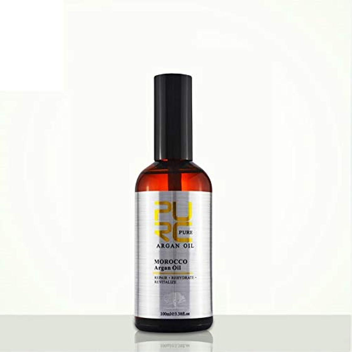 材料多年生強化するPURC Moroccan argan oil for hair care and protects damaged hair for moisture hair 100ml hair salon products