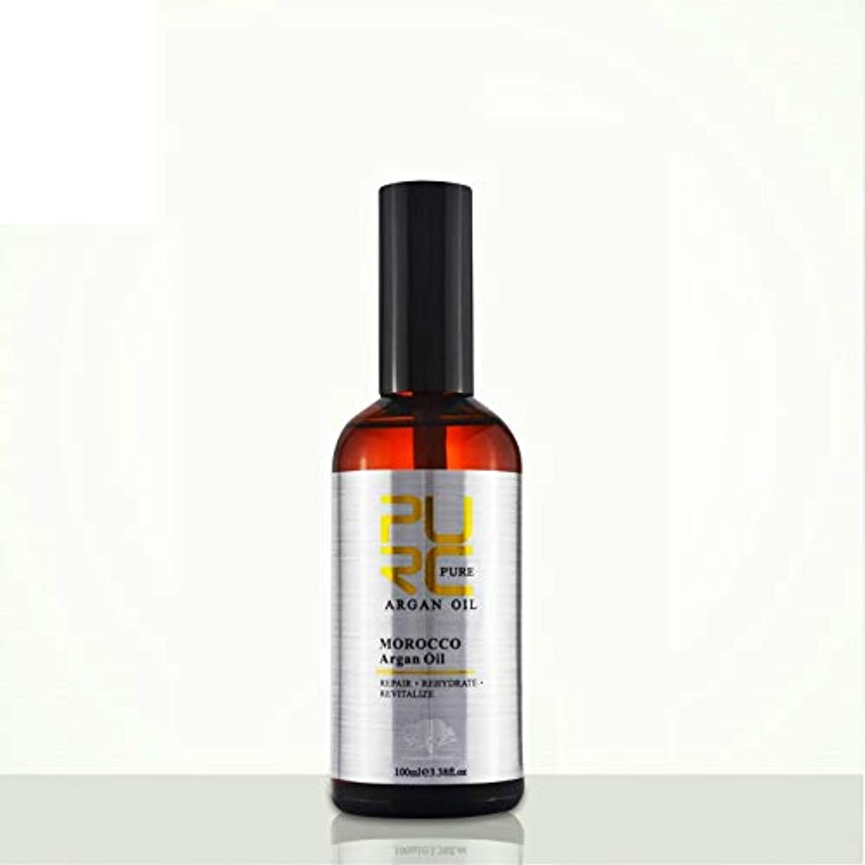 言語学叫び声解決PURC Moroccan argan oil for hair care and protects damaged hair for moisture hair 100ml hair salon products