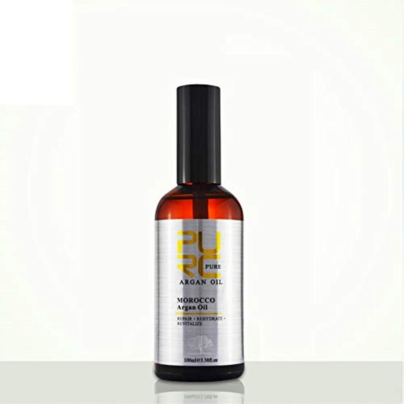 秘密の二形容詞PURC Moroccan argan oil for hair care and protects damaged hair for moisture hair 100ml hair salon products