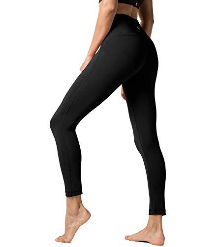 LAPASA Leggins Mujer Cintura Alta Fitness, Mallas de Deporte con Bolsillo, Pantalón Deportivo Elásticos y Transpirable, Leggings Push Up para Running Yoga y Ejercicio L01R1/L09R1/L32R1
