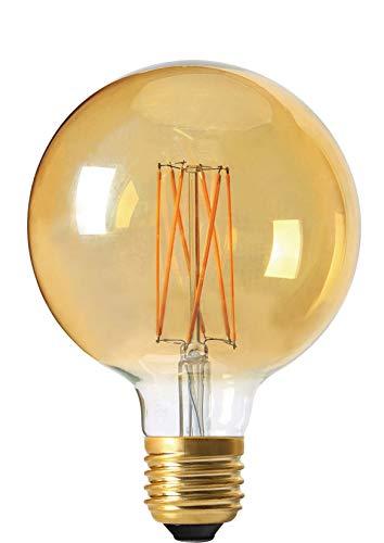 Girard Sudron 716600-LED Ampoule globe G95 à filament LED E27 Culot à vis Edison Ambre Blanc chaud 260 lm Intensité variable 4 W