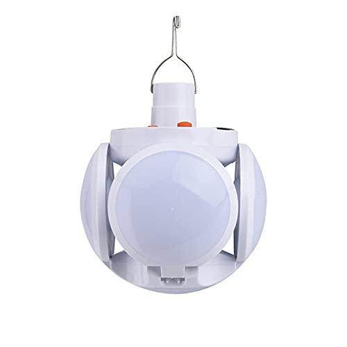 GYAM Linterna De Camping, Luz De Tienda Recargable con Energía Solar/USB, Lámpara De Tienda Colgante para Senderismo Camping Pesca Emergencia Al Aire Libre