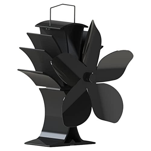 Ventilador De Chimenea 5 Alas Ventilador De Estufa Operado Por Calor Ventilador De Chimenea Sin Electricidad Para Estufas De Leña, Estufas De Gas, Estufas De Pellet