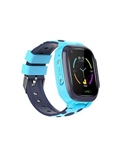 Roneberg RY95 - Reloj inteligente infantil con cámara y GPS, compatible con iOS y Android, GPS + localizador LBS con pantalla de alto contraste, cámara integrada (BLUE)