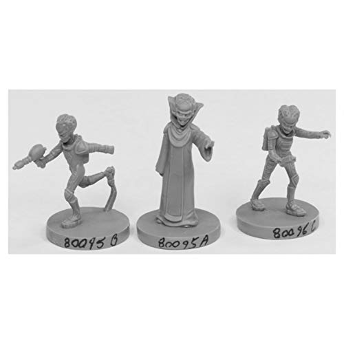 Reaper Miniatures Alien Overlords (3) #49001 Bones Black Plastic Unpainted Minis