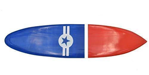 Interlifestyle Surfboard 100cm con Náutico Motivo Decoración Tabla de Surf de Madera Dura Placa