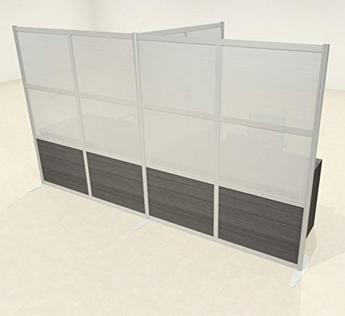 Lowest Prices! One T Shaped Loft Modern Office Home Aluminum Frame Partition/Divider, UT-ALU-P64