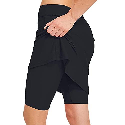 Tennis Skirts Damen Sport Hosen Club Basic Skort Leichtgewichts Lauftennis Golf Workout Sportrock Elastic Sports Yoga Angenehm Weiche Elastic Sports Leggings Shorts/Hosen mit Taschen