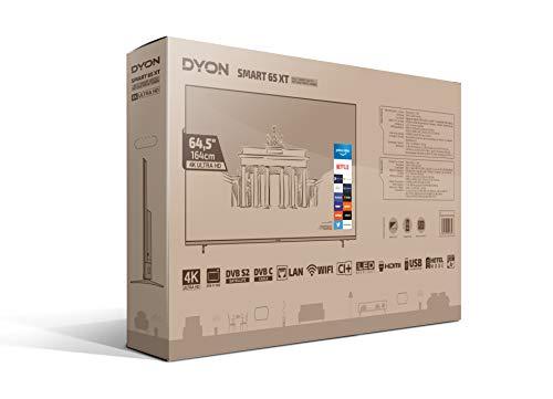 DYON Smart 65 XT 164 cm (65 Zoll) Fernseher (4K Ultra-HD Smart TV, HD Triple Tuner (DVB-C/-S2/-T2), Prime Video, Netflix, YouTube & HbbTV, WLAN, Hotel Modus)