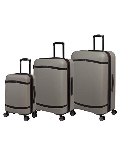 it luggage Quaint Hardside Expandable Spinner, Brown with Mulch Trim, 3-Piece Set (21/28/32)