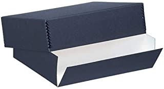 Lineco Museum Archival Drop-Front Storage Box, Acid-Free with Metal Edges, 8.5 X 10.5 X 3 inches, Black (733-2008)