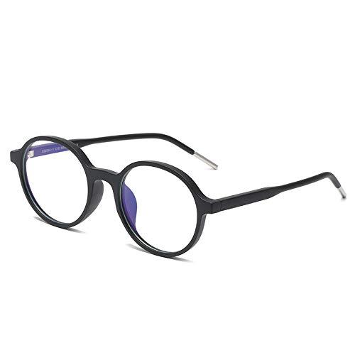 Gafas Bloqueo Luz Azul Negro Mate Vintage Round Frame 2 Pack Unisex, Claro Filtro De Juego De Computadora De Lente Gafas, Gafas Ópticas De Moda, Regalo De Las Mujeres De Los Hombres, Como Se Muestra
