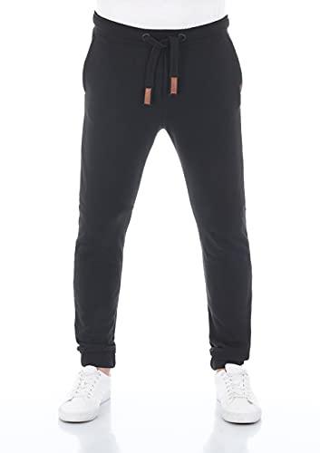 riverso Herren Sweathose RIVSven Trainingshose Jogger Jogginghose Sporthose Freizeithose Slim Einfarbig Baumwolle Schwarz 4XL, Größe:4XL, Farbe:Black (24000)