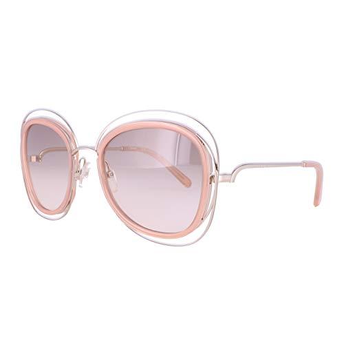 Chloé CE123S 724 56 Gafas de Sol, Gold/Transparent Peach, Mujer