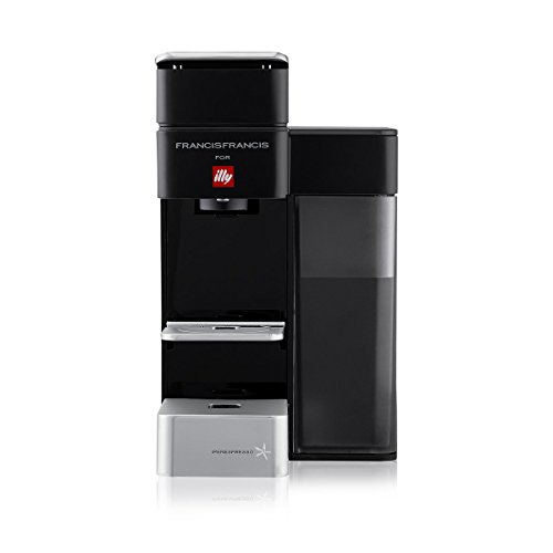 illy y5 Espresso and Coffee Machine, 5.7 x 9.6 x 11.2, Black